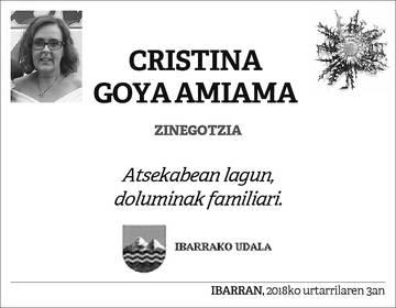 Cristina Goya Amiama