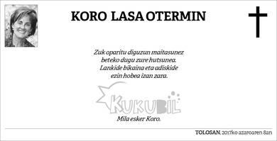 Koro Lasa Otermin