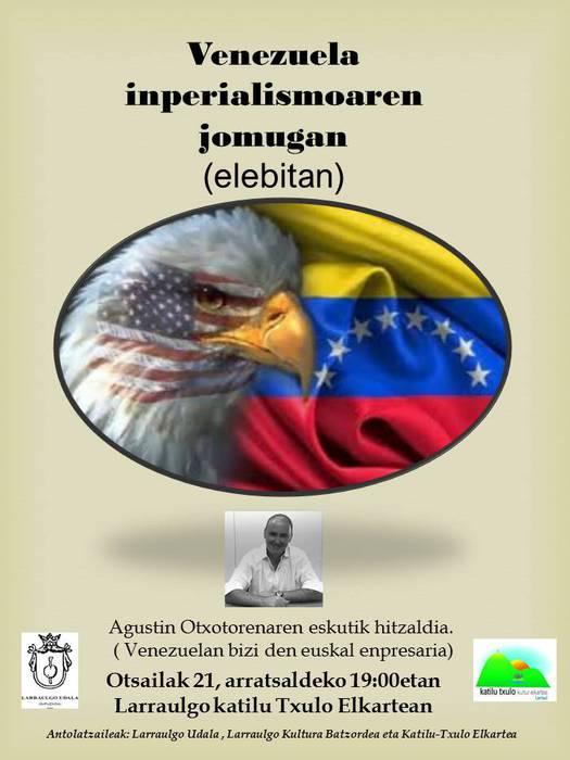 'Venezuela inperialismoaren jomugan' hitzaldia ostegunean