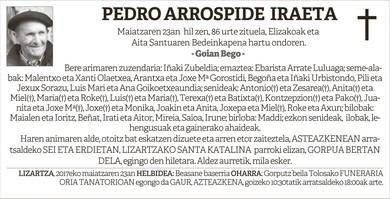 Pedro Arrospide Iraeta