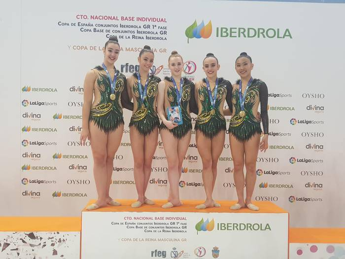 Tolosa CF Gimnastikako neskak, bikain Espainiakoan