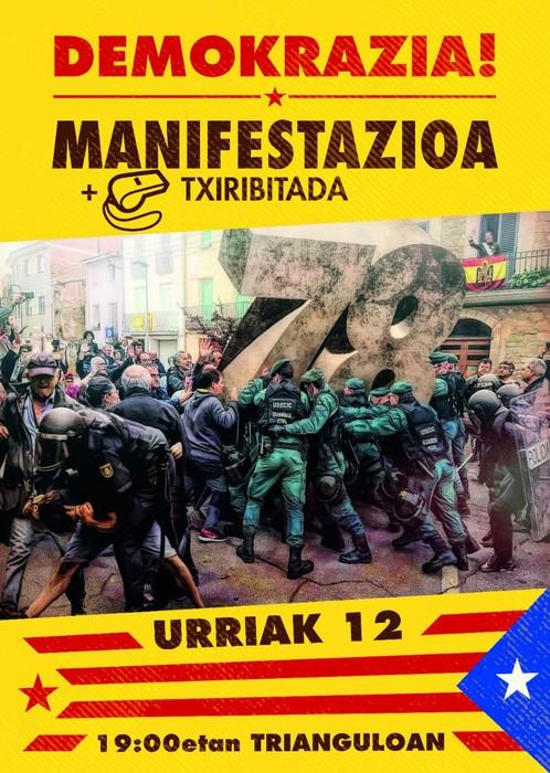Txiribitada manifestazioa