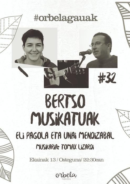 Bertso musikatuak: Eli Pagola eta Unai Mendizabal