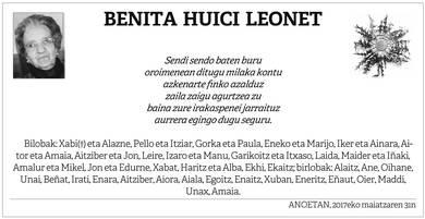 Benita Huici Leonet
