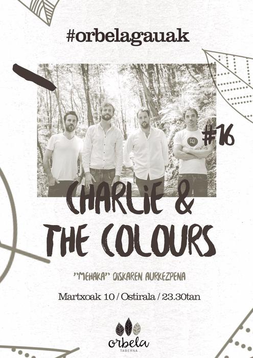 Charli & The Colours taldeak kontzertua eskainiko du ostiralean
