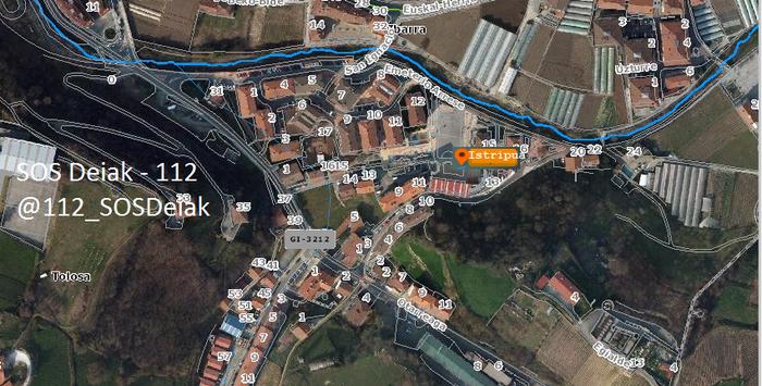 Txirrindulari bat erori da Ibarran eta Donostia ospitalera eraman behar izan dute