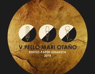 V. Pello Mari Otaño bertso-paper lehiaketak baditu bere saridunak