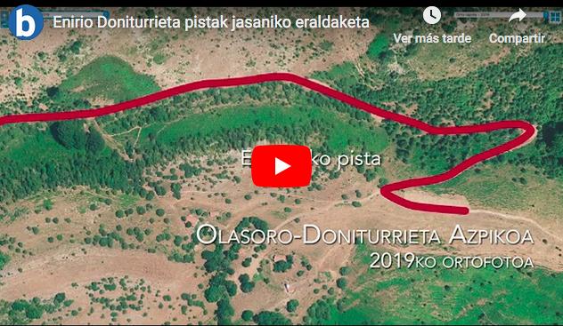 Enirio-Doniturrieta pistak eragindako «txikizioa» salatu du Aralar Bizirik plataformak