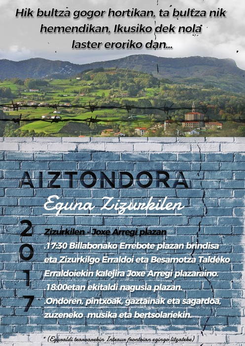 Aiztondora eguna, urriaren 21ean Zizurkilen