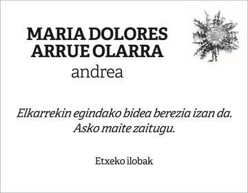 Maria Dolores Arrue Olarra
