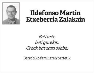 Ildefonso Martin Etxeberria Zalakain