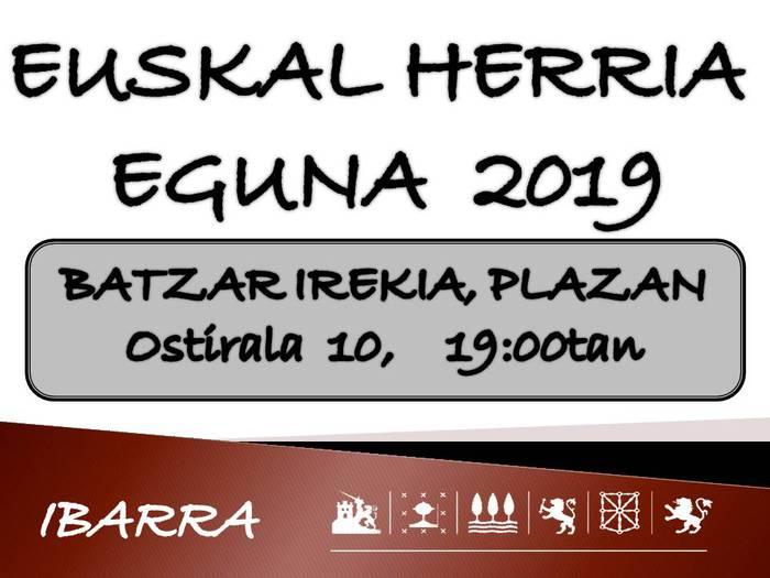 Euskal Herria egunaren harira, batzar irekia, bihar, Ibarran