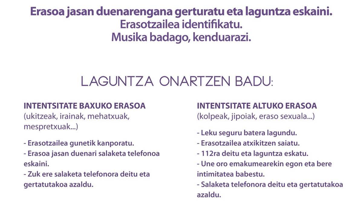 Eraso sexistarik gabeko jaien alde egin du Ibarrako Udalak