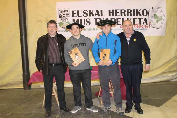 Eskualdeko bost bikote pasa dira Euskal Herriko Mus Txapelketako finalera