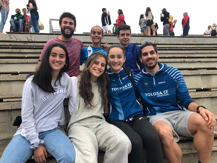16 urtez azpiko bost atleta Espainiakoan