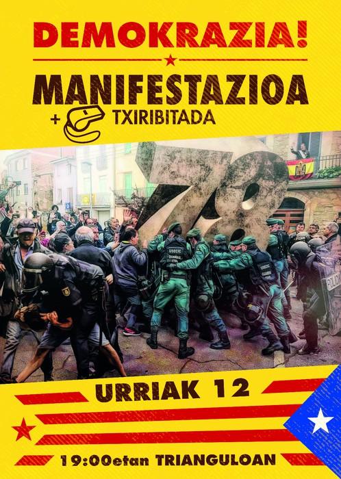Bat egiten dugu bihar 19:00tan Tolosako Trianguloan egingo den manifestazioarekin