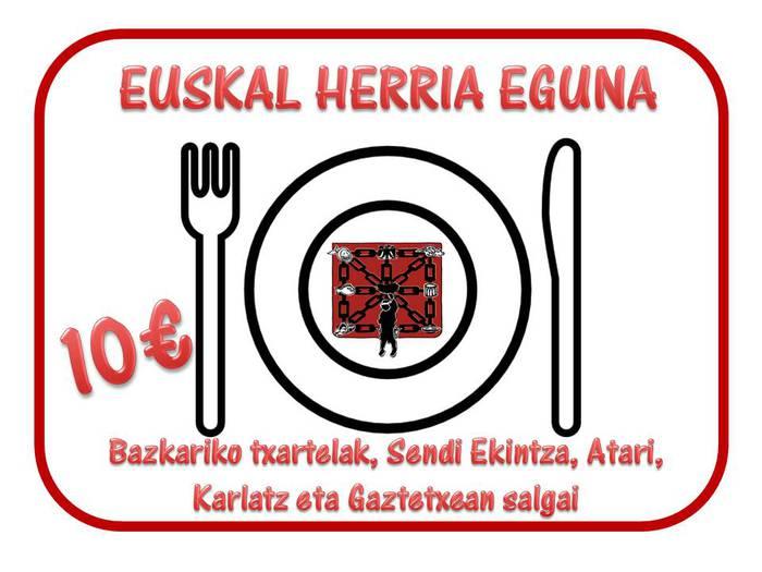 Euskal Herria Eguneko bazkarirako txartelak salgai daude