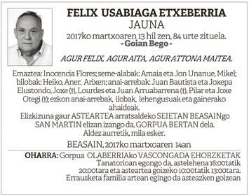 Felix Usabiaga etxeberria