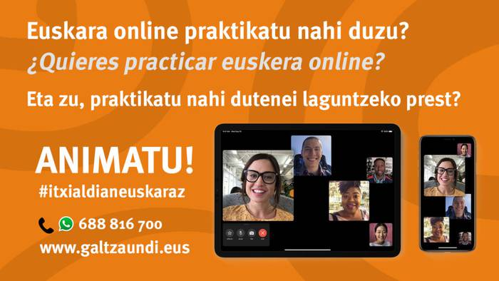 'Itxialdian euskaraz' egitasmoa, euskara online praktikatzeko