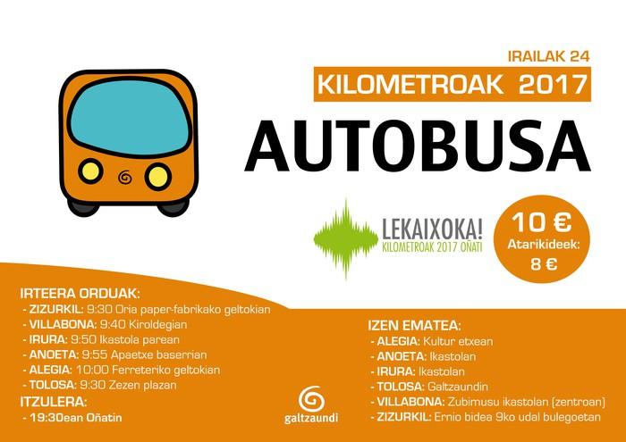 Kilometroetara joateko autobusa antolatu du Galtzaundik