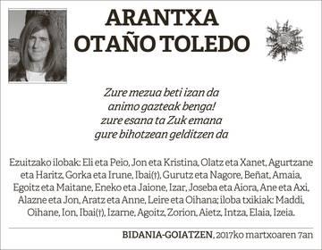 Arantxa Otaño Toledo
