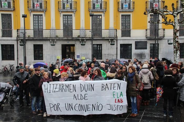 Prekarizazioari aurre egiteko protesta