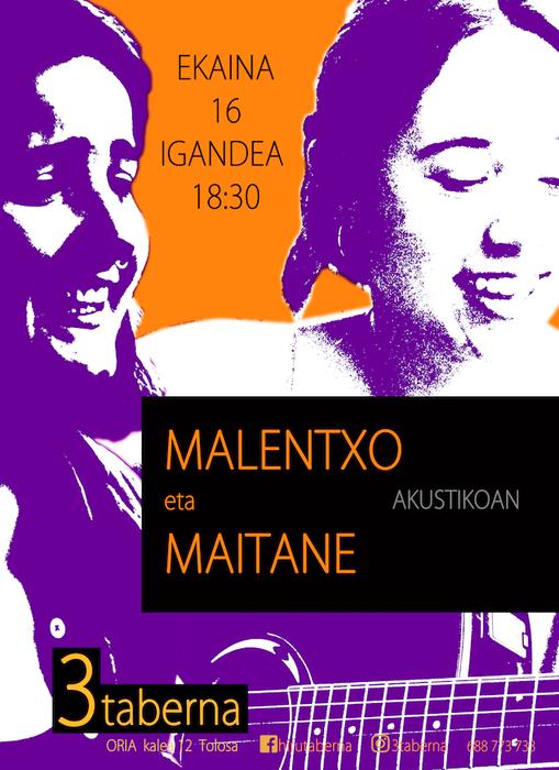 Kontzertua: Malentxo eta Maitane akustikoan