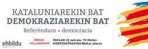 Ostiralean 19:30etan Kataluniako erreferendumaren aldeko kontzentrazioa Villabonan