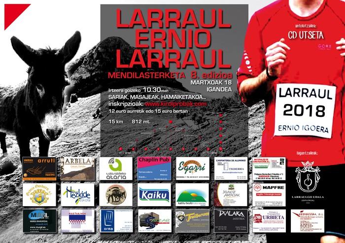 Larraul-Ernio-Larraul mendi lasterketaren 8.edizioa, igandean