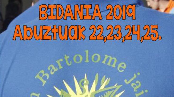 Bidaniko jaiak 2019