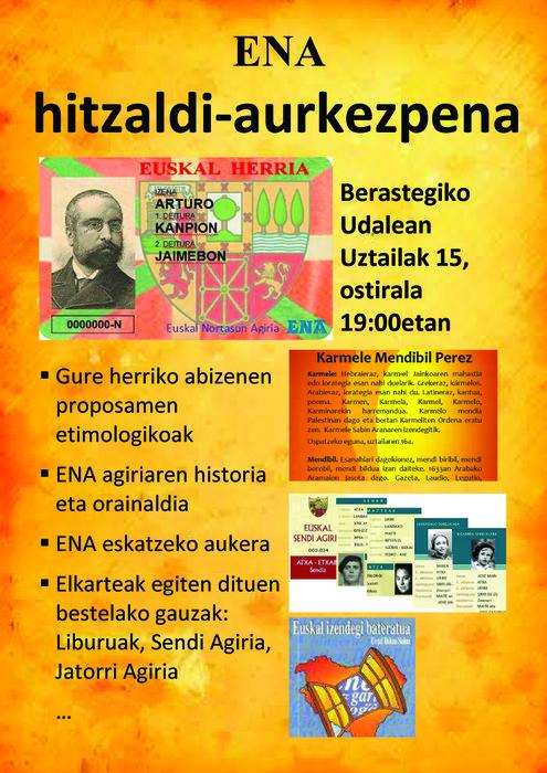 ENA HITZALDI-AURKEZPENA