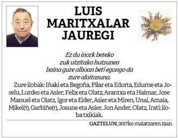 Luis Maritxalar Jauregi