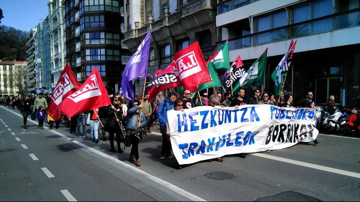 «Murrizketen politika bazter uzteko» eskatu diote sindikatuek Hezkuntza Sailari
