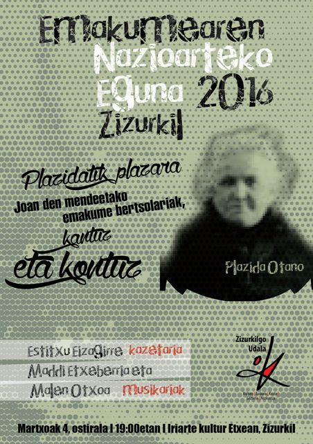Plazidatik plazara emanaldi berezia Zizurkilgo Iriarte kultur etxean, martxoaren 4an
