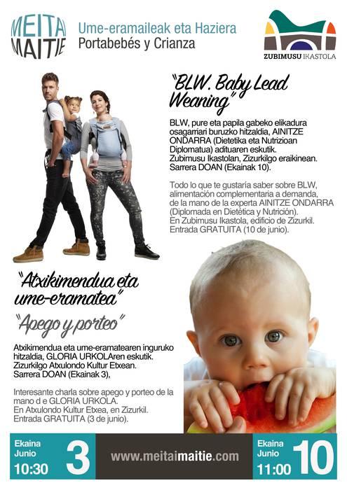 Umeen atxikimendua eta Baby Lead Weaning metodoa hizpide