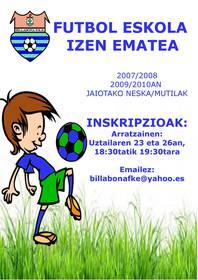izen ematea billabona fke - ko futbol eskolan
